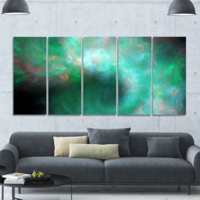 Perfect Clear Blue Starry Sky Abstract Canvas ArtPrint - 5 Panels
