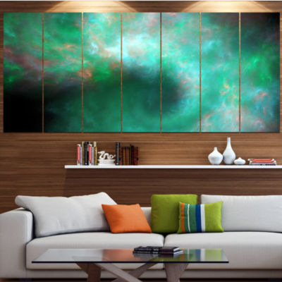 Perfect Clear Blue Starry Sky Abstract Canvas ArtPrint - 7 Panels
