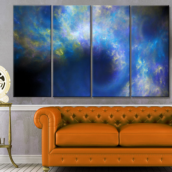Perfect Whirlwind Starry Sky Abstract Canvas Art Print - 4 Panels