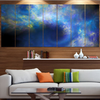Perfect Whirlwind Starry Sky Contemporary Canvas Art Print - 5 Panels