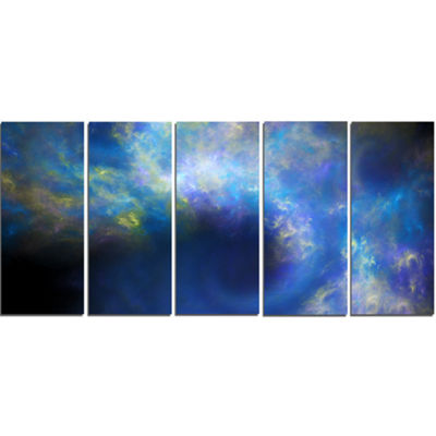 Perfect Whirlwind Starry Sky Abstract Canvas Art Print - 5 Panels