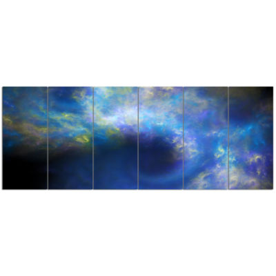 Perfect Whirlwind Starry Sky Abstract Canvas Art Print - 6 Panels
