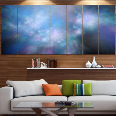 Perfect Light Blue Starry Sky Abstract Canvas ArtPrint - 5 Panels
