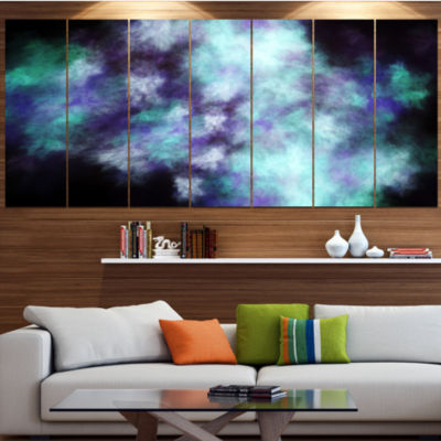 Perfect Flowery Starry Sky Abstract Canvas Art Print - 5 Panels