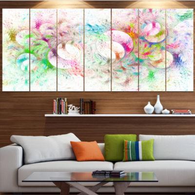 Snow Fractal Ornamental Glass Abstract Canvas ArtPrint - 4 Panels