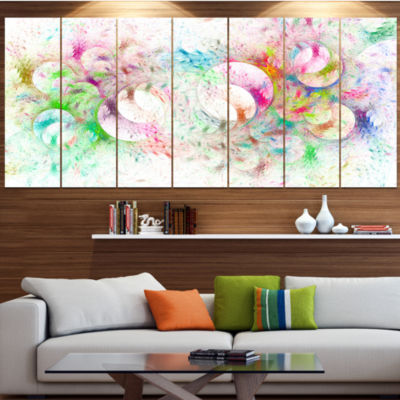 Snow Fractal Ornamental Glass Abstract Canvas ArtPrint - 7 Panels