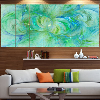 Snow Fractal Glass Texture Abstract Canvas Art Print - 7 Panels