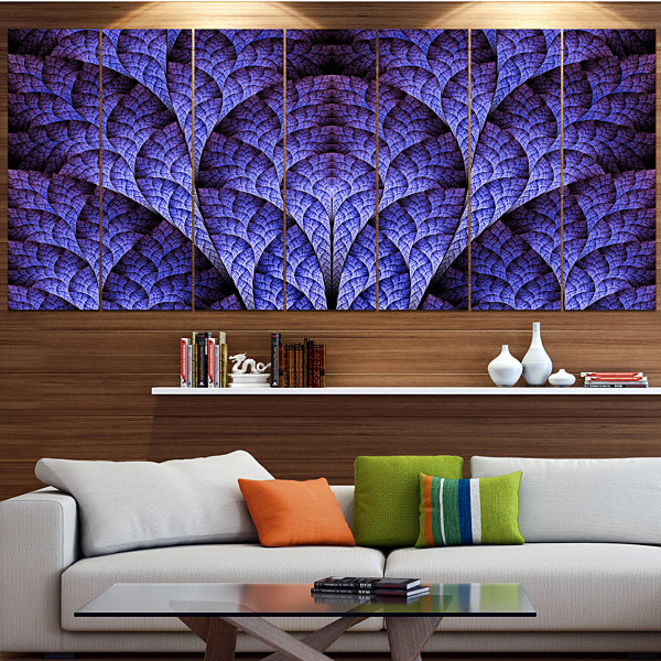 Exotic Purple Biological Organism Abstract Art OnCanvas - 4 Panels