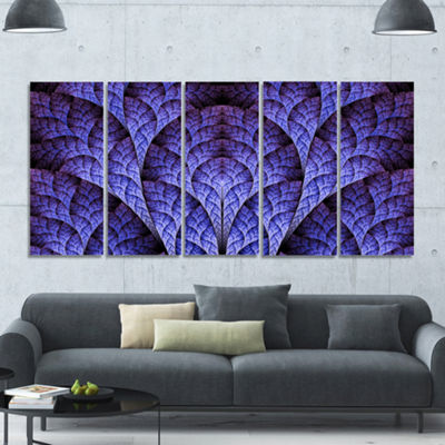 Exotic Purple Biological Organism Abstract Art OnCanvas - 5 Panels