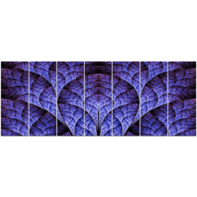 Exotic Purple Biological Organism Abstract Art OnCanvas - 7 Panels