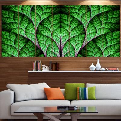 Exotic Green Biological Organism Contemporary ArtOn Canvas - 5 Panels