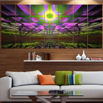 Fractal Cosmic Apocalypse Contemporary Art On Canvas - 5 Panels
