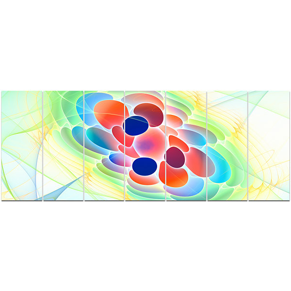 Fractal Virus Under Microscope Abstract Wall Art Canvas - 7 Panels