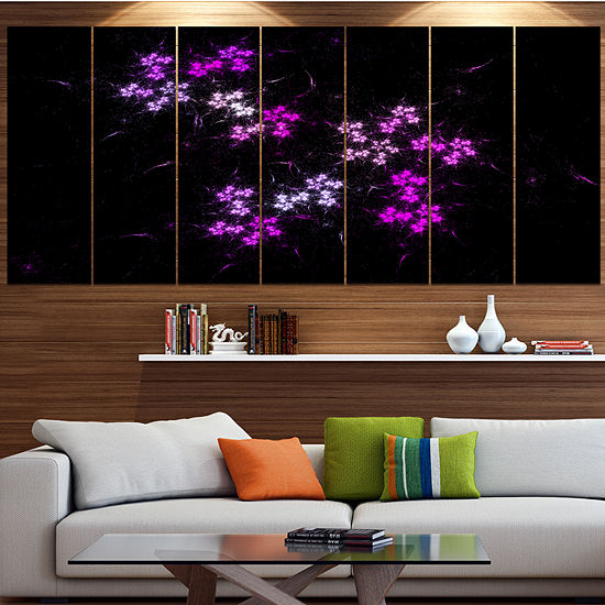 Placer Stars In Distant Galaxy Abstract Wall Art Canvas 4 Panels