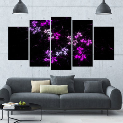 Placer Stars In Distant Galaxy Contemporary Wall Art Canvas - 5 Panels
