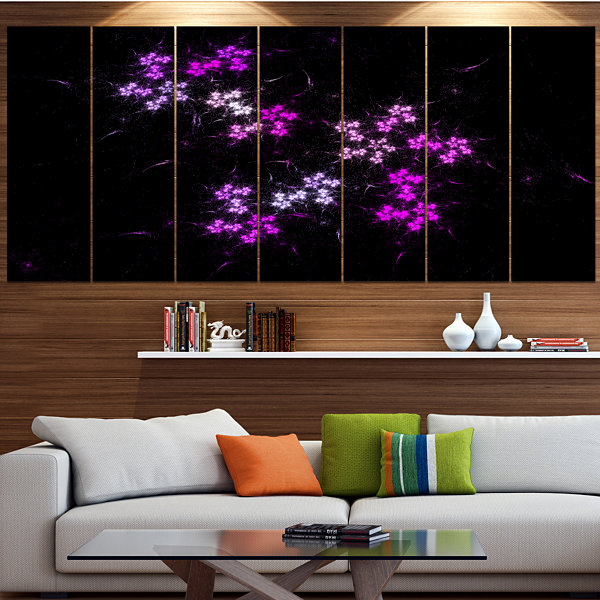 Placer Stars In Distant Galaxy Abstract Wall Art Canvas - 6 Panels