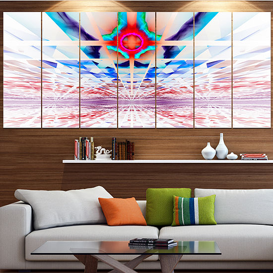 Designart Cosmic Horizons Apocalypse Abstract WallArt Canvas - 4 Panels