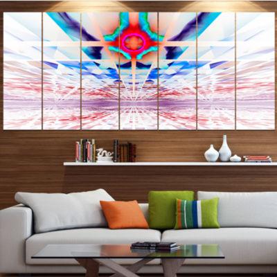 Design Art Cosmic Horizons Apocalypse Abstract Wall Art Canvas - 5 Panels