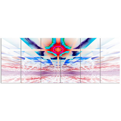 Designart Cosmic Horizons Apocalypse Abstract WallArt Canvas - 6 Panels