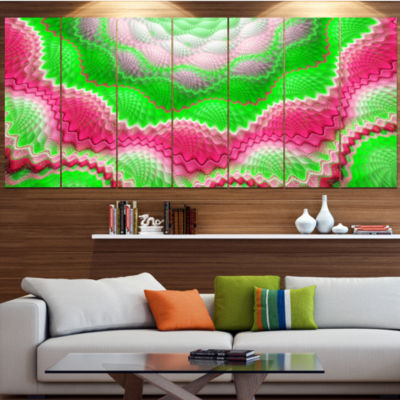 Snake Skin Exotic Flower Abstract Wall Art Canvas- 6 Panels