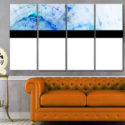 World Bubbles Fractal Pattern Abstract Wall Art Canvas - 4 Panels
