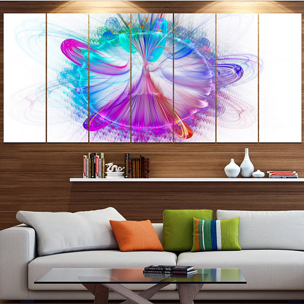 Vortices Of Energy Fractal Pattern Contemporary Wall Art Canvas - 5 Panels