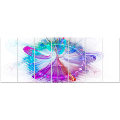 Vortices Of Energy Fractal Pattern Abstract Wall Art Canvas - 7 Panels