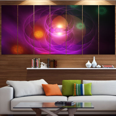 Merge Colored Spheres. Large Abstract Wrapped Canvas Art Print - 5 Panels