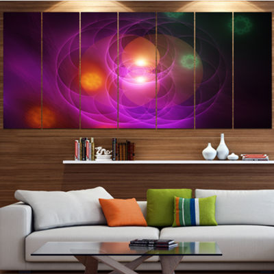 Merge Colored Spheres. Contemporary Canvas Art Print - 7 Panels