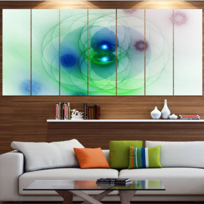 Merge Colored Spheres. Abstract Canvas Art Print -6 Panels