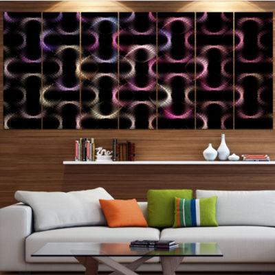 Designart Colorful Unusual Metal Grill Abstract Canvas WallArt - 6 Panels