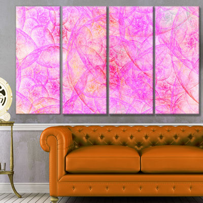 Rose Fractal Dramatic Clouds Abstract Canvas Art Print - 4 Panels