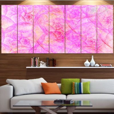 Rose Fractal Dramatic Clouds Abstract Canvas Art Print - 6 Panels
