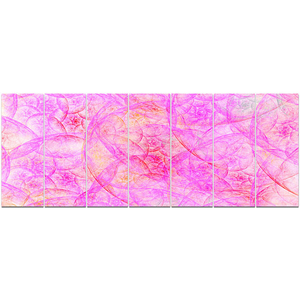 Rose Fractal Dramatic Clouds Abstract Canvas Art Print - 7 Panels
