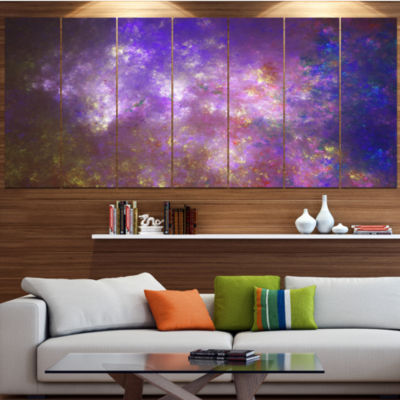 Designart Blur Fractal Sky With Stars Abstract Canvas Art Print - 5 Panels