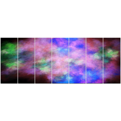 Multi Color Bright Sky With Stars Abstract CanvasArt Print - 7 Panels