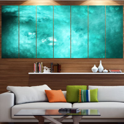 Designart Blur Blue Sky With Stars Abstract CanvasArt Print- 5 Panels