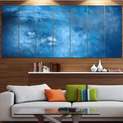 Blur Clear Blue Sky With Stars Contemporary CanvasArt Print - 5 Panels