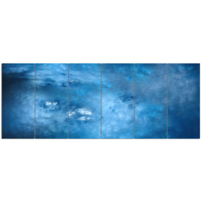 Blur Clear Blue Sky With Stars Abstract Canvas ArtPrint - 6 Panels