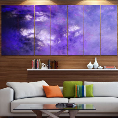 Designart Blur Purple Sky With Stars Abstract Canvas Art Print - 5 Panels