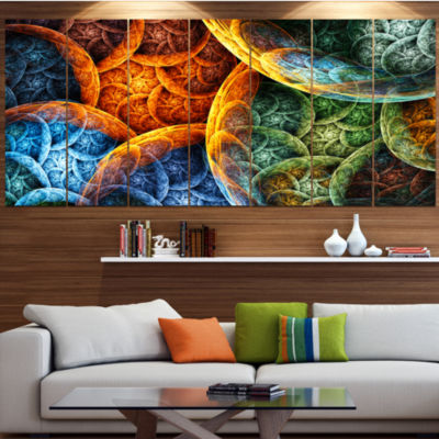 Vibrant Colorful Clouds Abstract Canvas Art Print-7 Panels