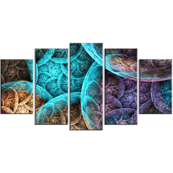 Designart Colorful Dramatic Clouds Contemporary Art On Canvas - 5 Panels