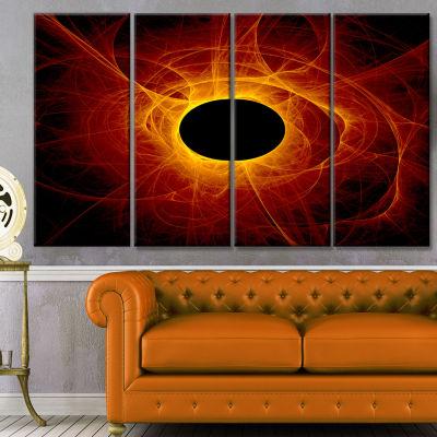 The Eye Of God Digital Art Abstract Wall Art Canvas - 4 Panels