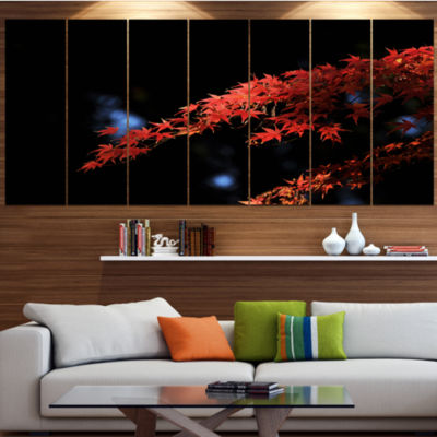 Fall Foliage Of Maple Leaves Abstract Canvas Art Print - 4 Panels