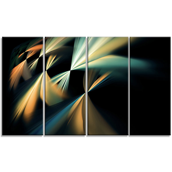 Floating Abstract Fractal Designs Abstract Art OnCanvas - 4 Panels