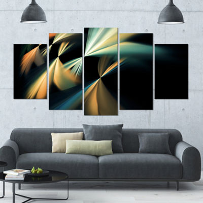 Floating Abstract Fractal Designs Contemporary ArtOn Canvas - 5 Panels