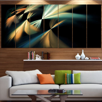 Floating Abstract Fractal Designs Abstract Art OnCanvas - 5 Panels