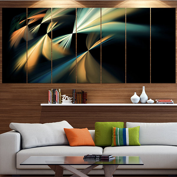 Floating Abstract Fractal Designs Abstract Art OnCanvas - 7 Panels