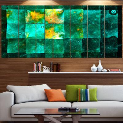 Designart Astrological Space Map Abstract Wall ArtCanvas -4 Panels