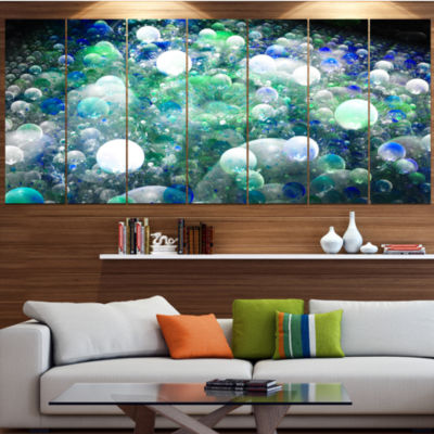 Colorful Molecules Fractal Design Abstract CanvasArt Print - 5 Panels